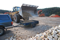 recycled crushed sandstone